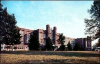 Old post card of Teaneck High School